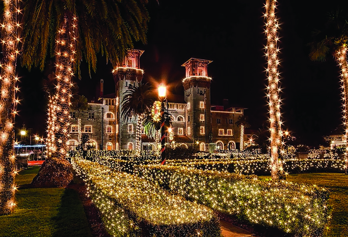 Lightner Museum, once a resort hotel also built by Flagler, is lit so brilliantly it is a favorite among visitors.