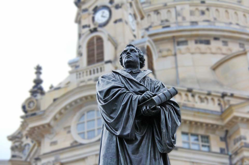 Estatua de Martin Luther in Wittenberg.